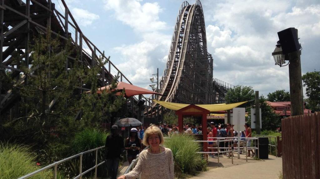 Brant. Eva framför El Toro, Six Flags, i New Jersey.
