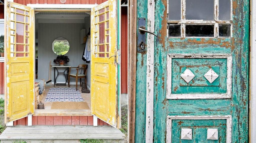 Charmiga gotländska pardörrar från tidigt 1900-tal.