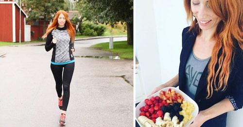 Alexandra är aktiv och äter många små mål mat under dagen.