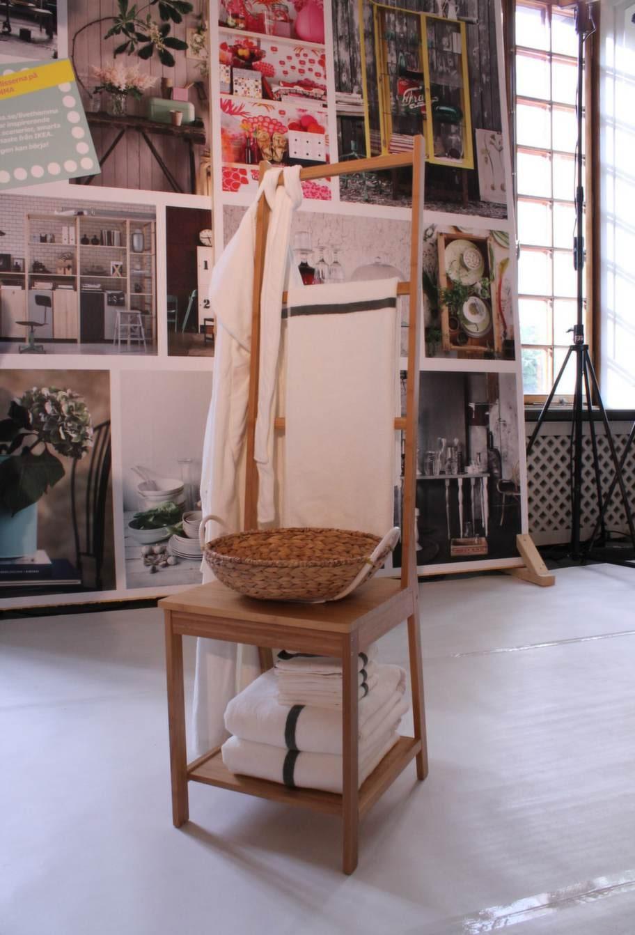 Susannes favorit!<br>Vackraste nyheten är stolen Rågrund som också är en handdukshängare. Av bambu. 399 kronor.
