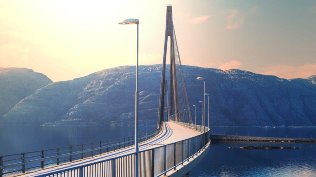 Norska Atlanthavsvägen är en 36 kilometer lång vägsträcka byggd på små öar utmed Atlantkusten.