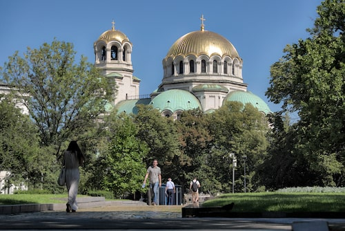 Alexander Nevskij-katedralens gyllene kupoler.