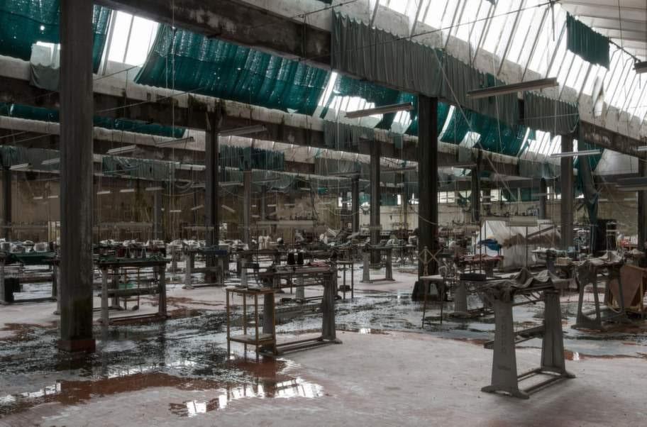 En före detta textilfabrik i Toscana, Italien.