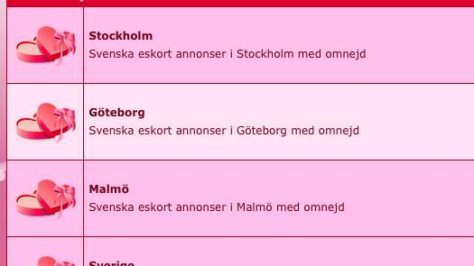 escort annonser stockholm äldre kvinnor som söker yngre män