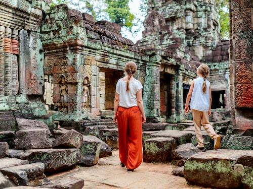 Ruinstaden Angkor är landets största turistmagnet.