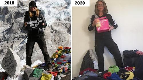Anna Falk erövrar både Base Camp i Nepal 2018 och tvättberget i förorten 2020.