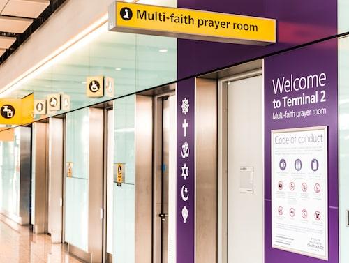 På London Heathrow finns bönerum för alla trosinriktningar.