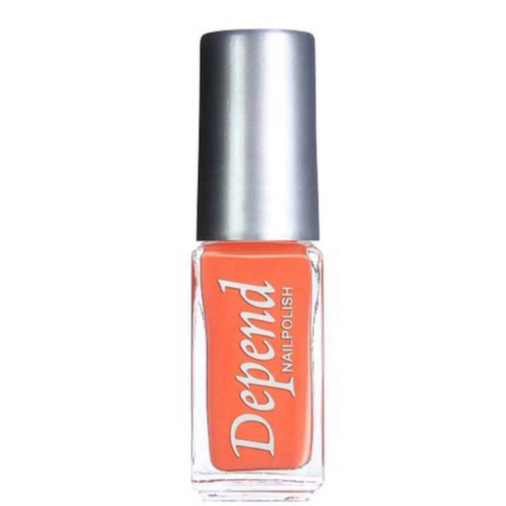 Nagellack i orange, Depend, cirk 29 kronor.