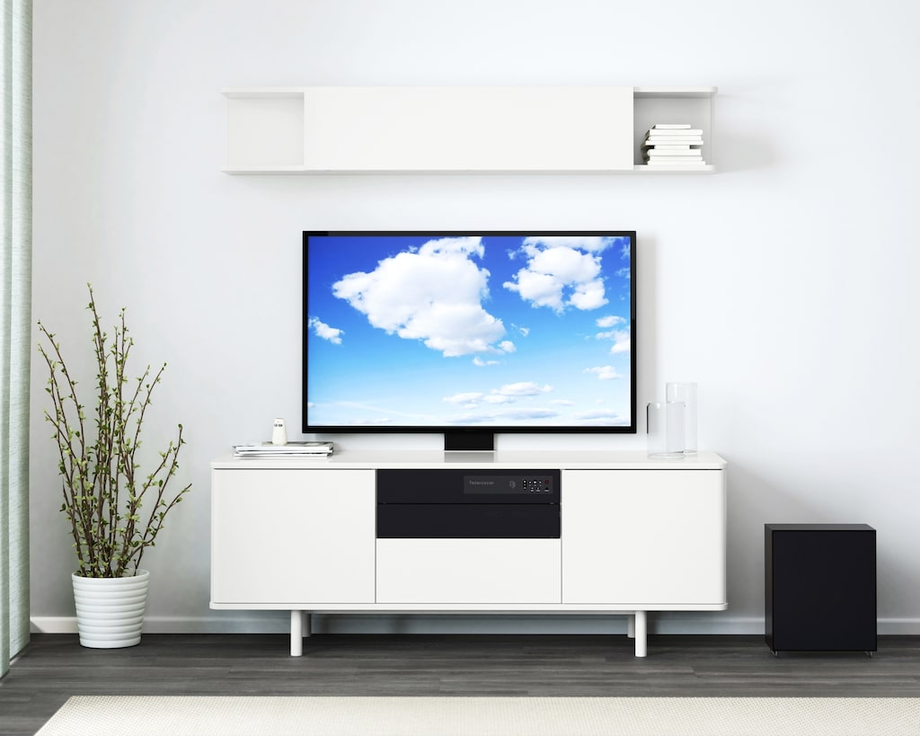 """Den stilrena tv-bänken """"Mostorp"""" är nu 200 kronor billigare än tidigare. Nu kostar den 1795 kronor."""