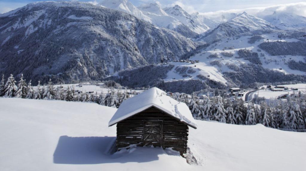 """<p>Det har snöat nästan en meter det senaste dygnet och vädret har just slagit om till klarblå himmel.<span id=""""_plain_text_marker"""">&nbsp;</span></p>"""