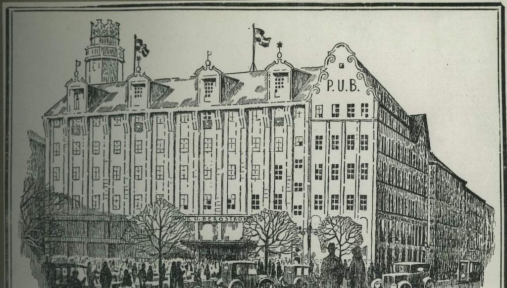 Annons från PUB-huset 1925.