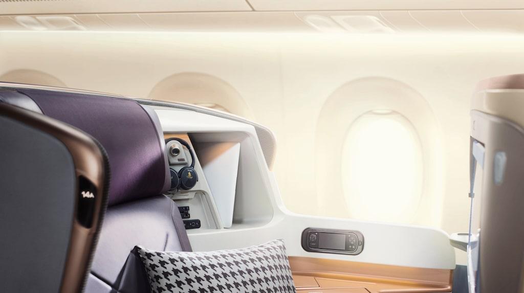 Airbus A350-ULR uppges inte ha någon ekonomiklass, utan bara affärsklass och...