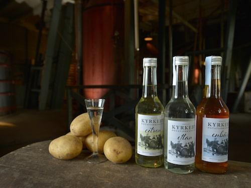 Kyrkeby bränneri producerar potatisbrännvin en vecka per år.