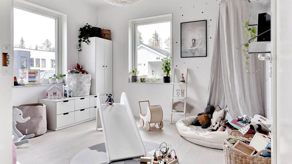 Gabriella Joss älskar att inreda barnrum. Det här är dotterns rum.
