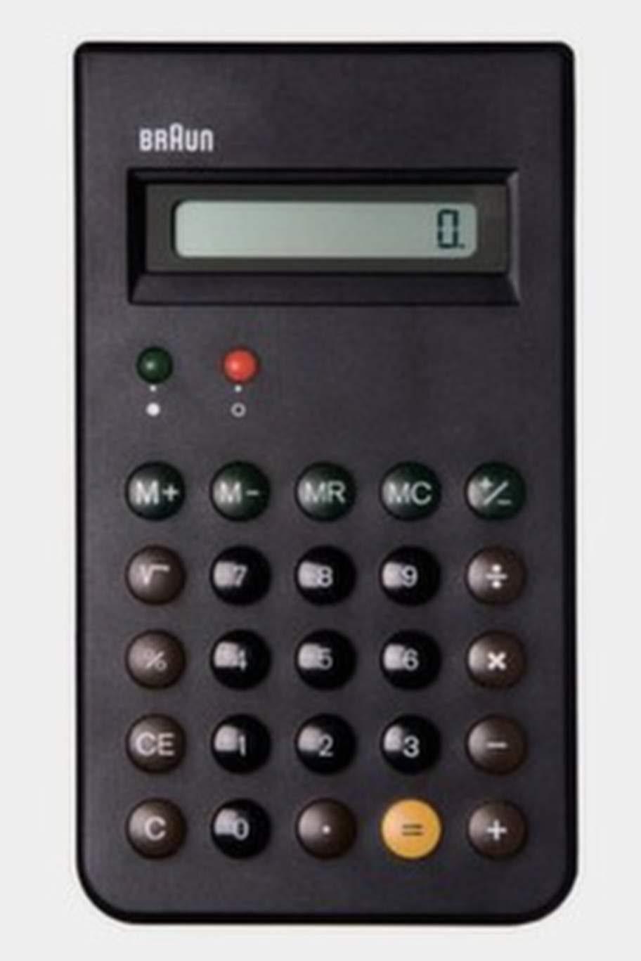 Ingen inredning men en vanlig syn i hemmen på 70-talet. Miniräknaren ET44 tillverkades av tyska företaget Braun i slutet på 70-talet och har blivit ett samlarobjekt.
