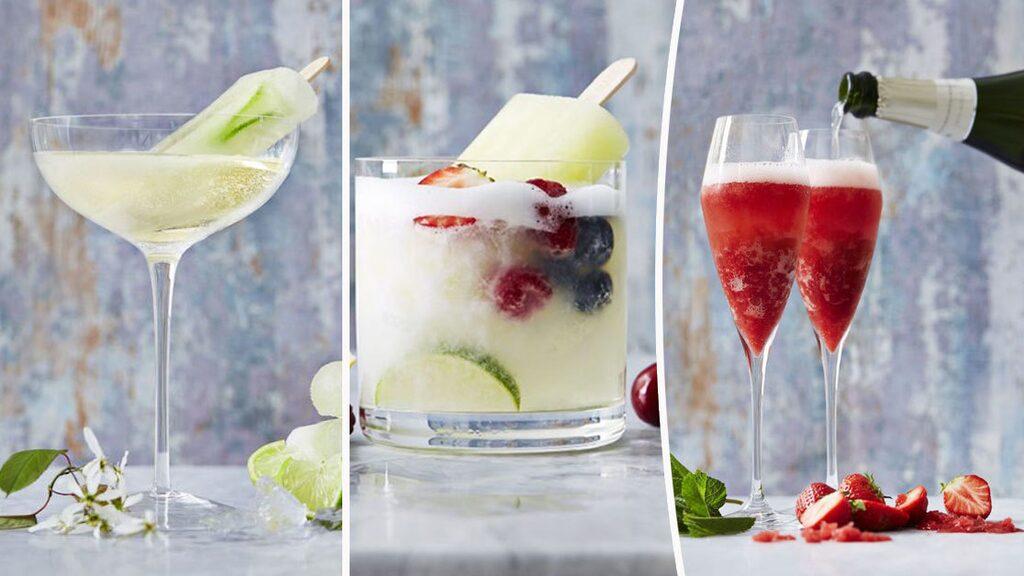 GLASSIGA DRINKAR. Elisabeth Johansson tipsar om 4 drinkar som kombinerar vin och glass.