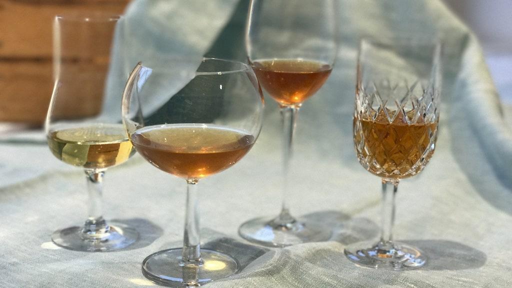 Orange vin tillverkas av vita druvor som behandlas som om de vore röda.