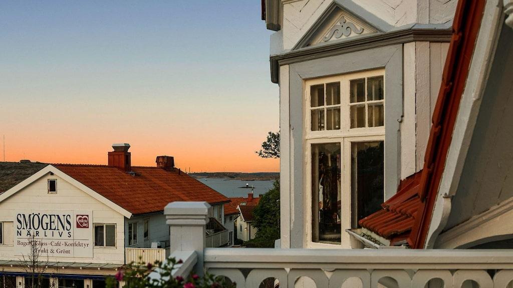 Balkongerna i slotts-villan är flera.