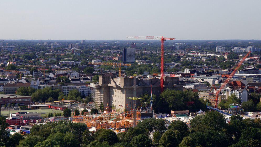 Bunkerhotellet i centrala Hamburg ska stå klart om två år.