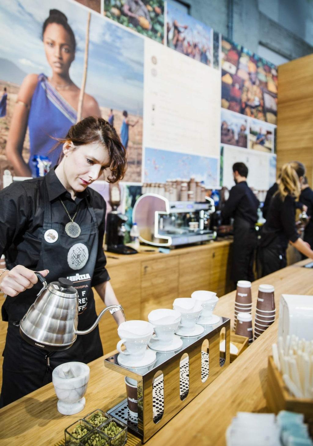 Rostat. Kaffehörnan på Salone del Gusto, matmässan i Turin.