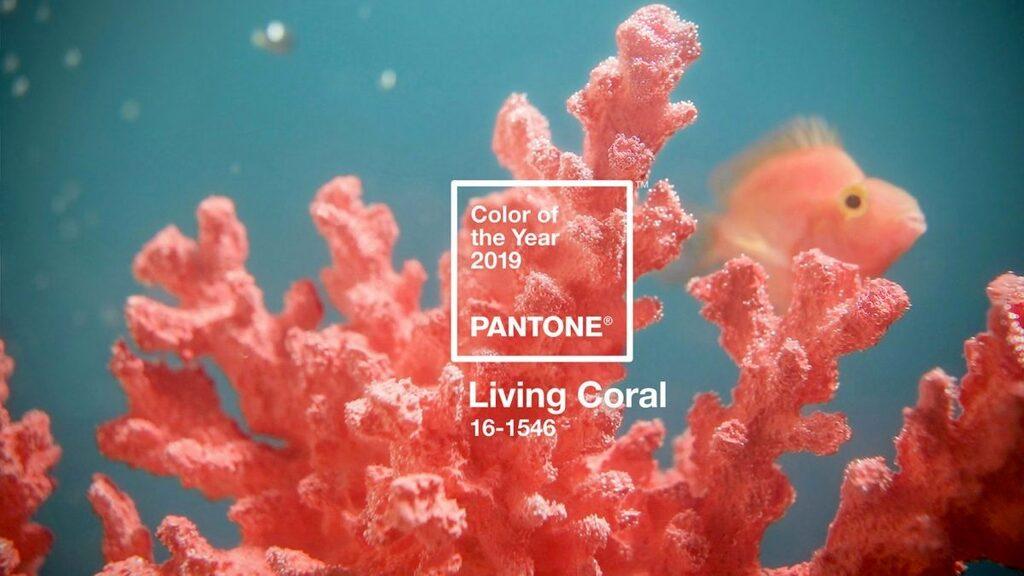 Färgtillverkaren Pantones val som årets färg 2019 är en mjuk, varm korallton som kallas Living Coral. Färgen ska ses som en mjuk glädjespridare men också påminna om  biologisk mångfald.