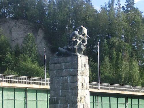 Timmerflottare av Fredrik Frisendahl från 1940.
