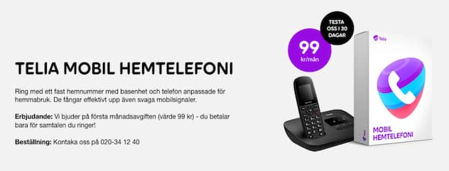 telia fast telefon