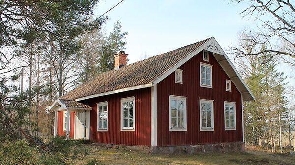 Falurött missionshus i Lindesberg.