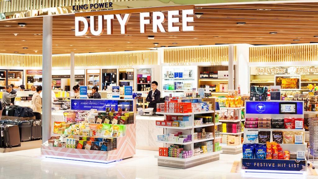 Bangkoks flygplats har ett stort utbud av taxfree-varor, här ska du dock inte shoppa skönhet.