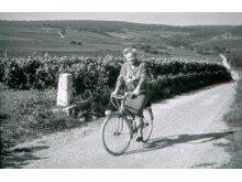 Lily Bollinger cyklade gärna mellan vingårdarna i Champagne