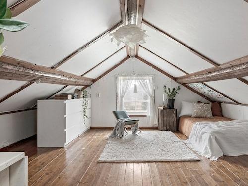 Sovloftet är perfekt som extra sovrum.