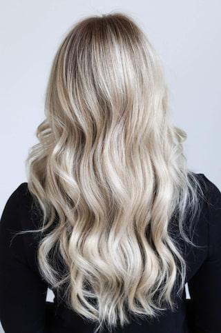 ombre blont hår