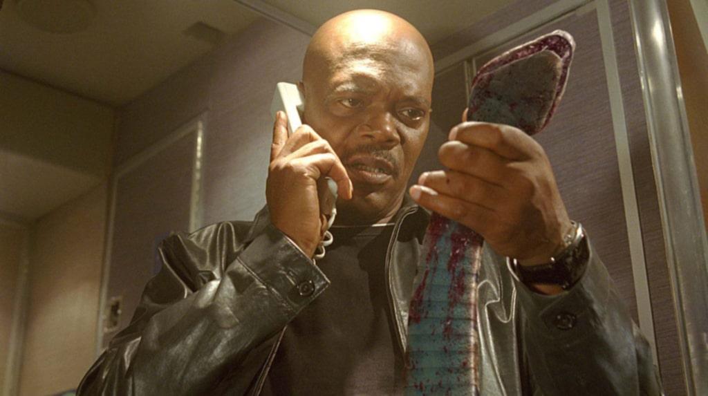 """I filmen """"Snakes on a plane"""" med Samuel L Jackson i huvudrollen släpps giftormar ut på ett flygplan."""