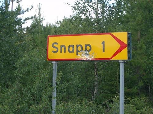 Byn Snapp övergavs 1994.