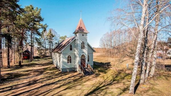 Gammalt missionshus i Stånga på Gotland.