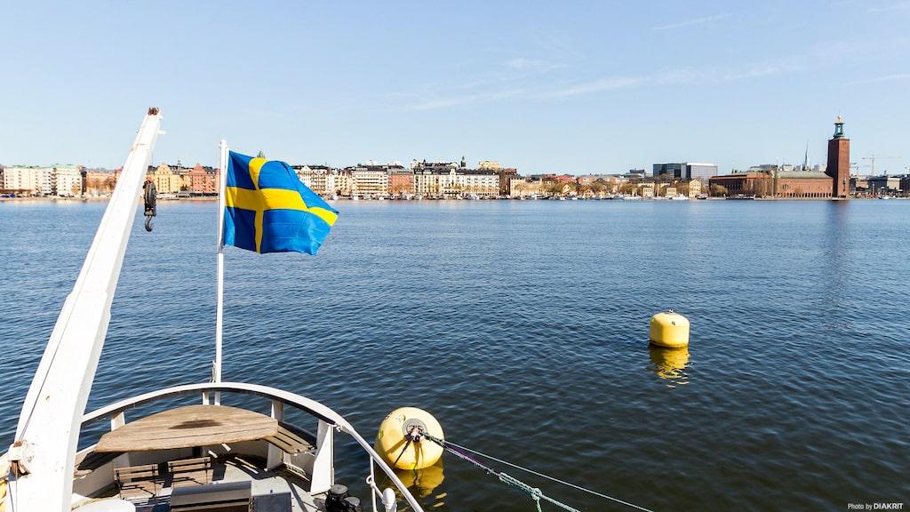 Utsikten över Stockholmss stad och stadshuset är magisk...