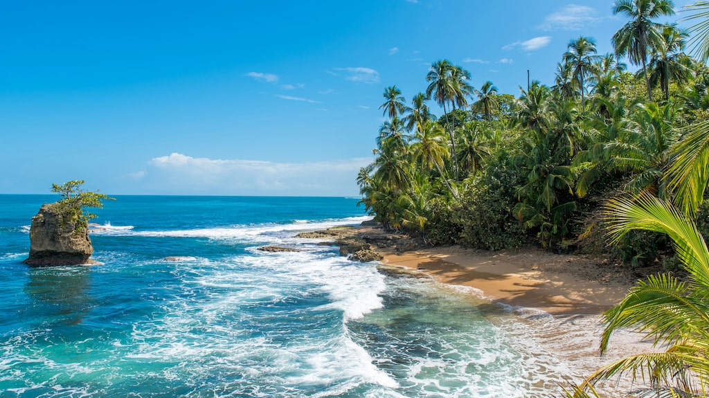 Puerto Viejo, en av Costa Ricas vackra stränder.