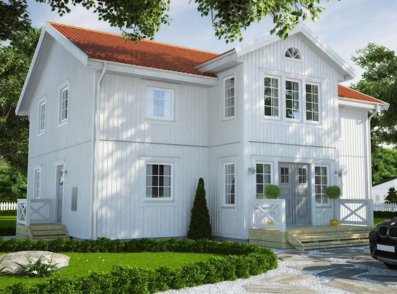 Häggen 224<br>TYP: 2-planshus på 224,4 kvadratmeter med 8 rum och kök.<br>PRIS: 2 251 000 kronor exklusive grund.<br>HUSFÖRETAG: Hjältevadshus hjaltevadshus.se