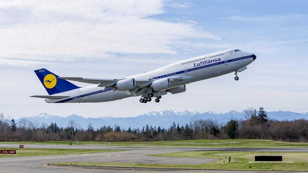 Boeingmodellen 747-8i, världens i dag snabbaste kommersiella passagerarflygplan.