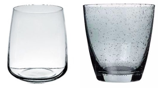 Glas från Ernst form/Glas från Elsa form.