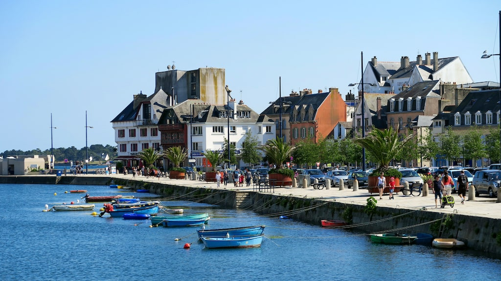 Hamnen i Concarneau, Bretagne.