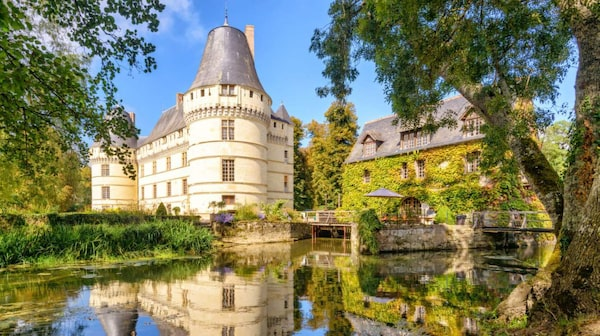 Många vackra slott i Loire