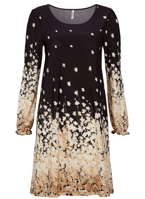 Bordermönstrad klänning med mycket vidd från Chiara Forthi, 299 kr, Bubbleroom.