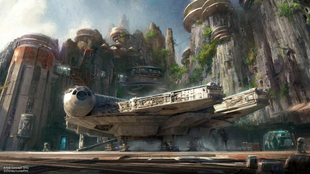 <p>Parkbesökarna kommer bland annat att få sätta sig bakom spakarna i rymdskeppet Millennium Falcon.</p>