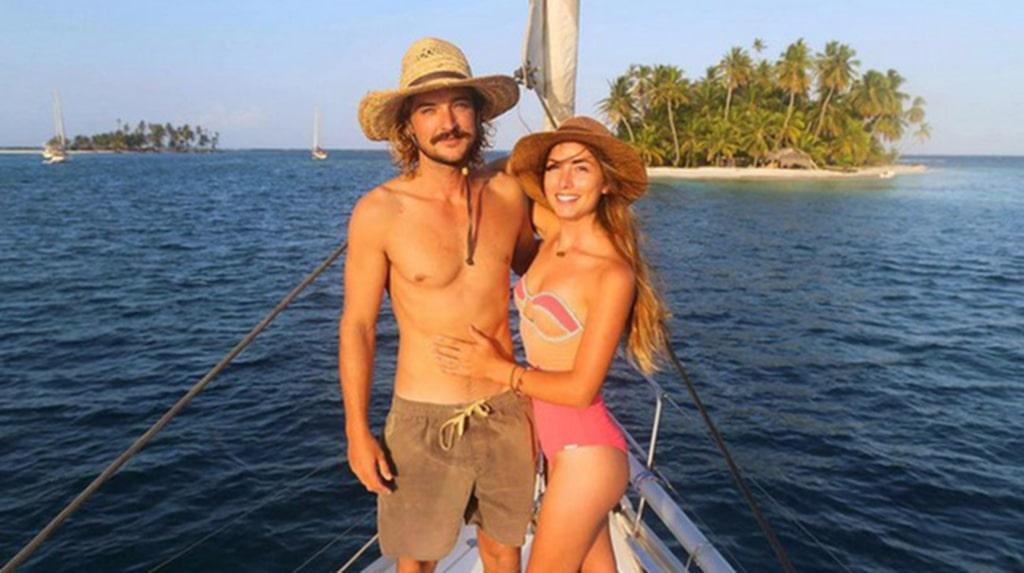 Elayna Carausu och Riley Whitelum från Australien träffades i Grkalnd och blev blixtförälskade.