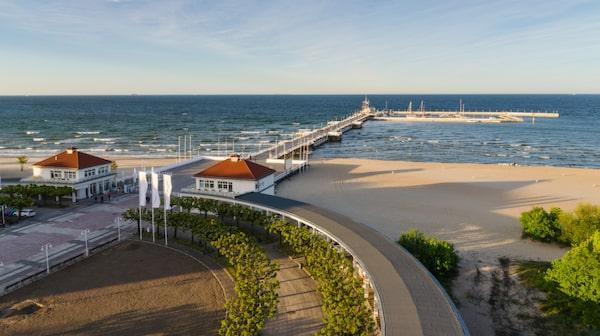 Badorten Sopot har en av Europas längsta prier.