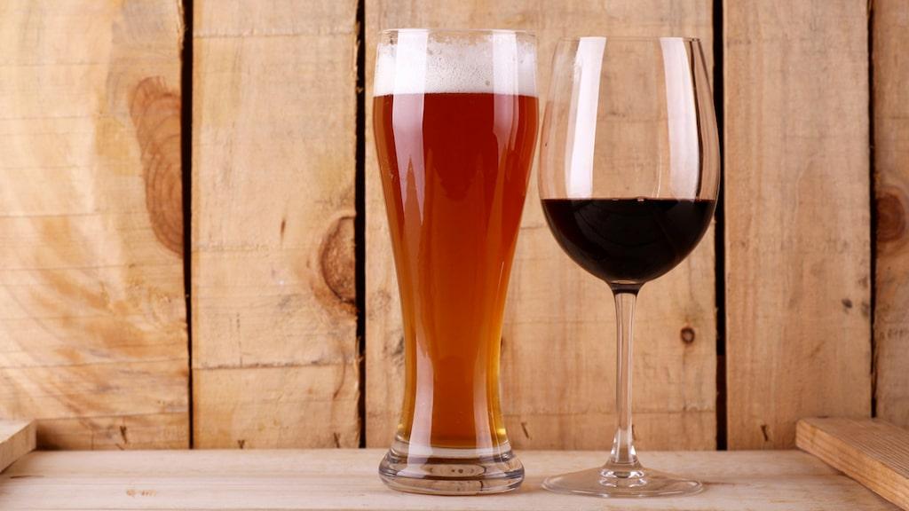 Har du koll på vilken som är den genomsnittliga alkoholhalten i vin och öl?