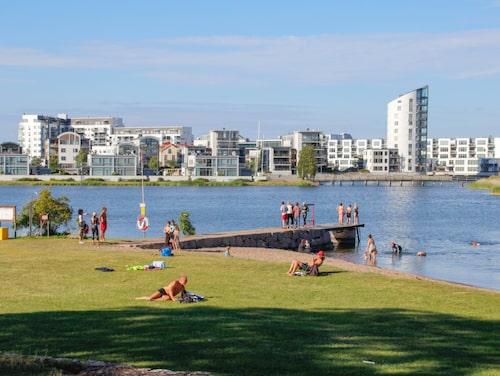 Kattrumpan, beachen mitt i Kalmar.