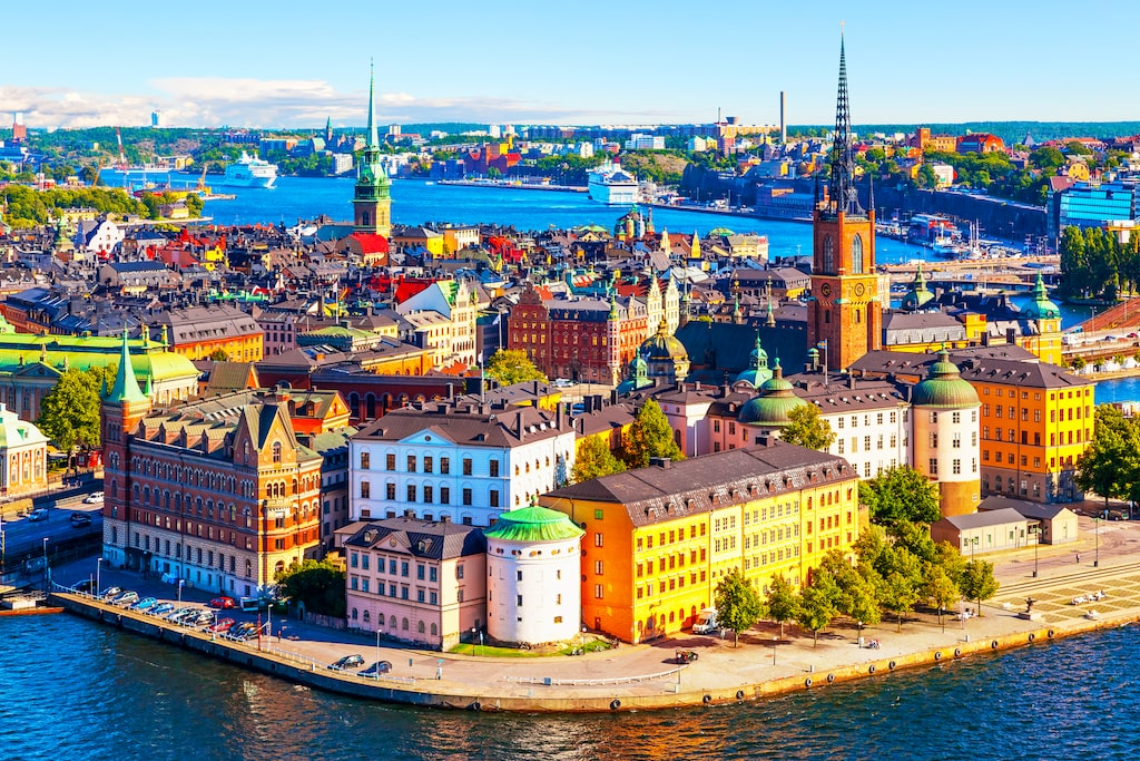 Skådespelaren trivs bra i Stockholm.