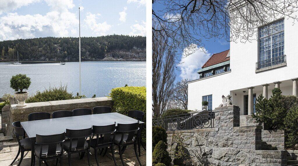 Uteplatserna är många, både på terrasser och i trädgård.